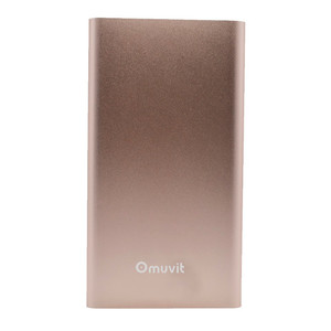 Batterie de secours 5000 mAh finition Metal Rose or