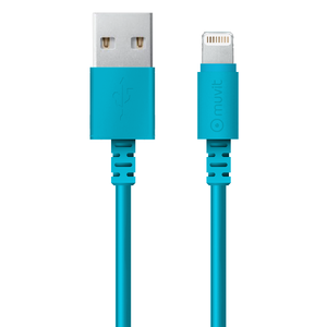Câble avec connecteur lightning MFI 2M Bleu