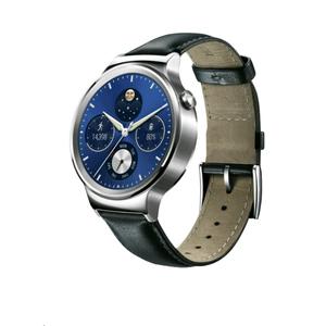 Montre connectée Huawei Watch Classic Silver Bracelet Cuir Noir