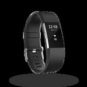 Charge 2 bracelet pour l'activité et le sport Noir Taille L