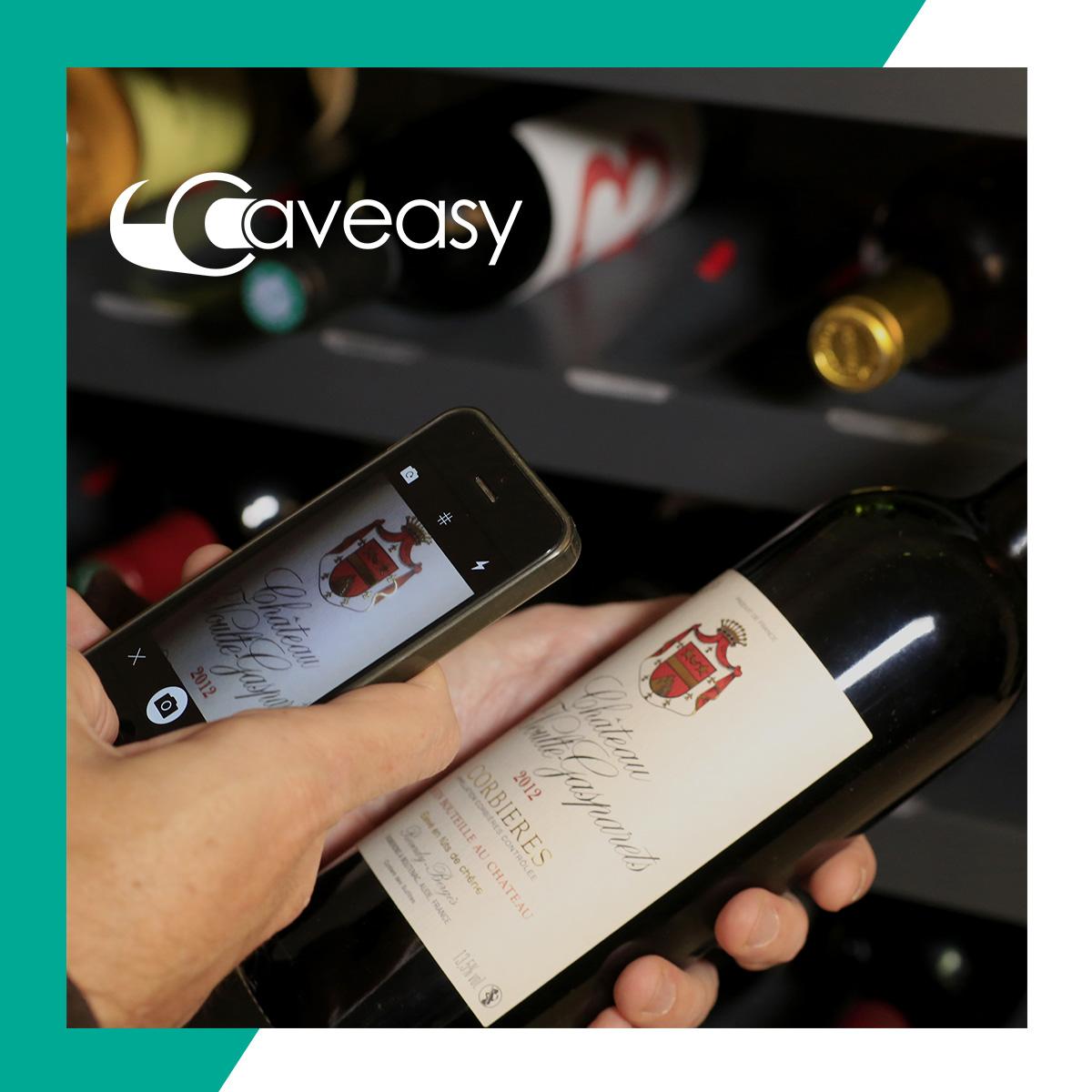 Rangement connecté pour bouteilles de vin
