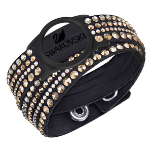 Bracelet pour Bijou bracelet d'activité Slake Activity Crystal Noir / Or