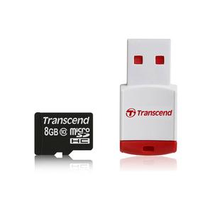 Carte mémoire microSDHC 8Go avec adaptateur SD