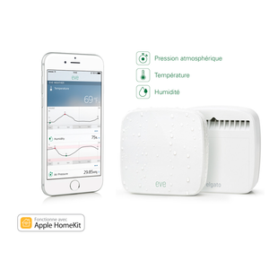 Eve capteur d'extérieur sans fil avec technologie HomeKit Blanc