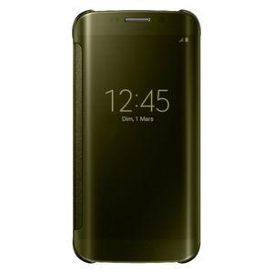Etui folio Clear view pour Galaxy S6 Edge Or