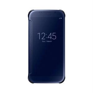 Etui folio Clear view pour Galaxy S6 Noir