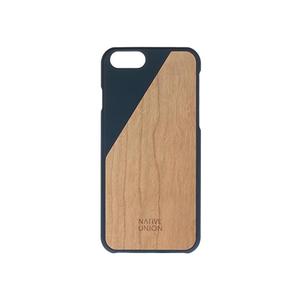 Coque Clic Wooden pour Iphone 6/6S Bleu