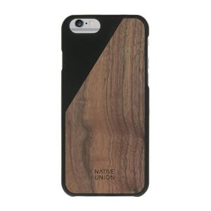Coque Clic Wooden pour Iphone 6/6S Noir