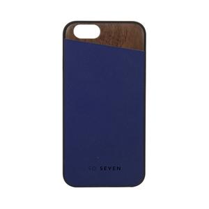 Coque bois + PU pour Iphone 6/6S Bleu nuit