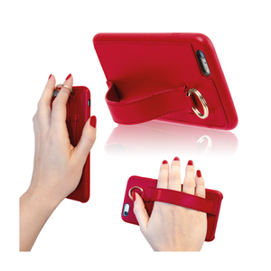 Coque Ring avec sangle pour iPhone 6+/6S+ Rouge