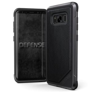 Coque Defense Lux Cuir pour Galaxy S8 Noir