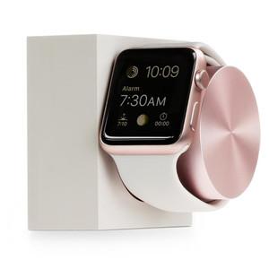 Station de charge en silicone pour Apple Watch Rose