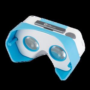 Casque de réalité virtuelle avec bouton interactif Bleu