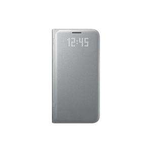 Etui folio Led View Cover Galaxy S7 Edge Argent