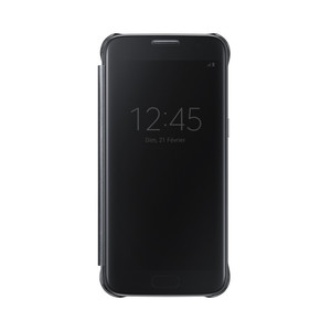 Etui folio Clear view pour Galaxy S7 Noir