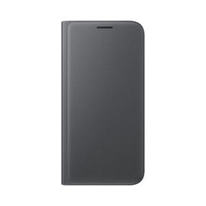 Etui flip wallet pour Galaxy S7 Noir