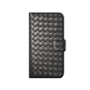Etui folio cuir tressé pour iPhone 6 Noir