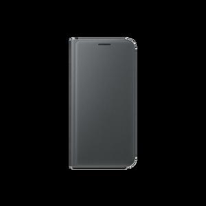 Etui flip wallet pour Galaxy S7 Edge Noir