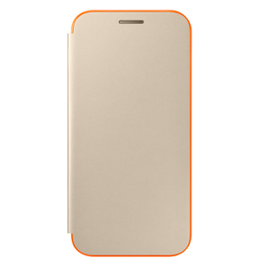 Etui flip cover pour Galaxy A3 (2017) Or