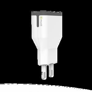 Chargeur secteur 2 ports USB 2,4A Blanc