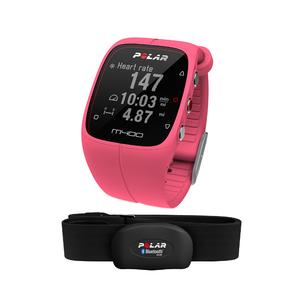 Montre sport GPS avec capteur de fréquence cardiaque M400 Rose