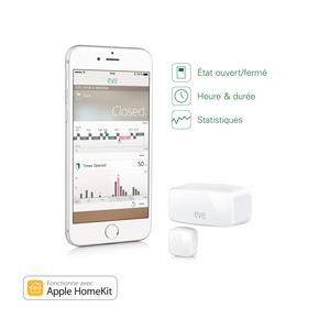 Eve capteur de porte et de fenêtre sans fil avec technologie HomeKit Blanc
