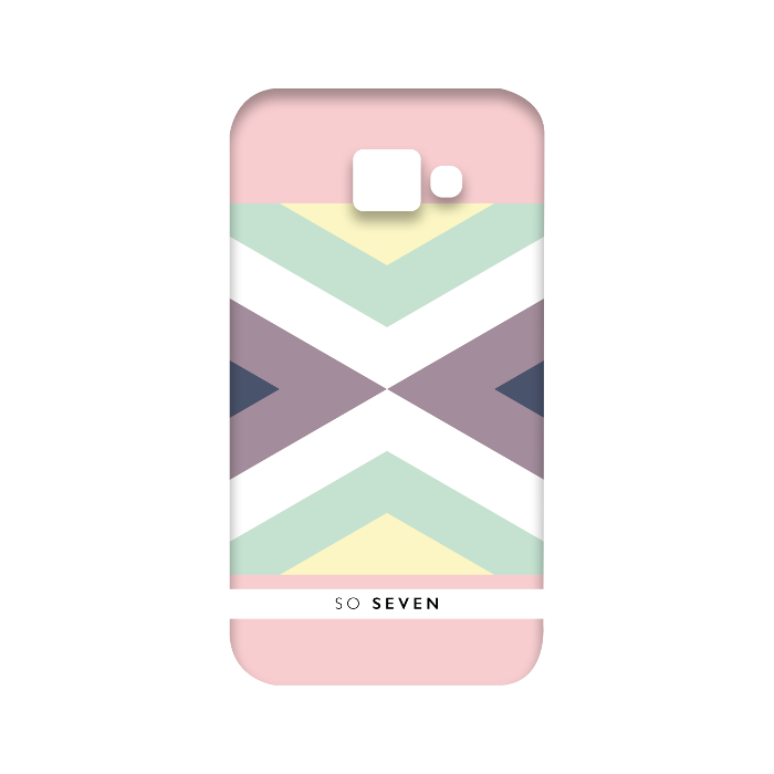 So Seven Coque graphique pastel symétrique pour Galaxy A3 2016