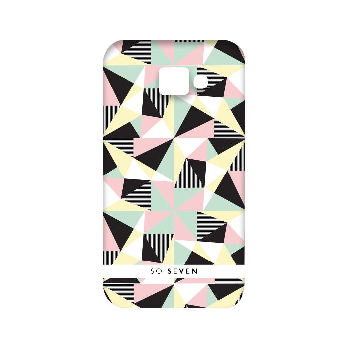 So Seven Coque graphique pastel transparent pour Galaxy A3 2016