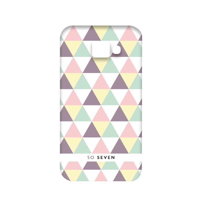 So Seven Coque graphique pastel triangle pour Galaxy A3 2016