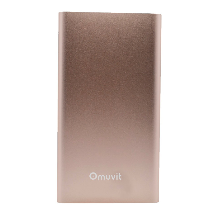 Muvit Batterie de secours 5000 mAh finition Metal Rose Or