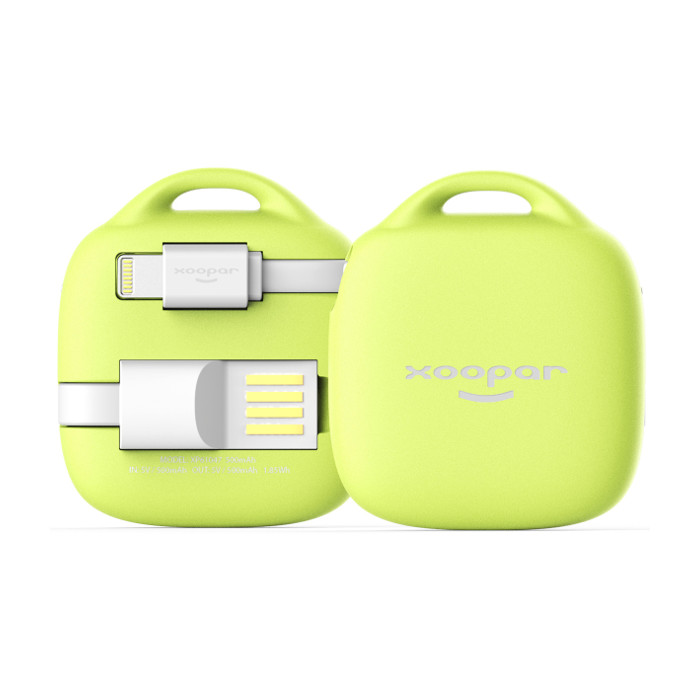 Xoopar Batterie de secours MFI Hug Booster 500mAh Lime