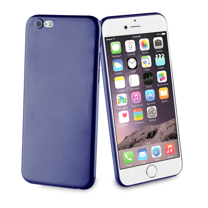 Muvit Life Coque Fever Ultrafine pour Iphone 6/6S Bleu