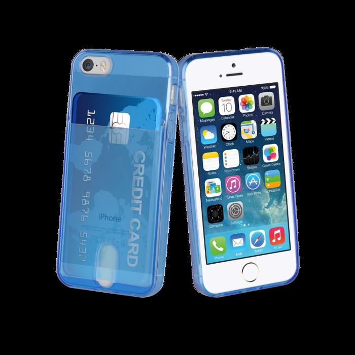 Muvit Life Coque PassPass pour Iphone 5/5S/SE Bleu