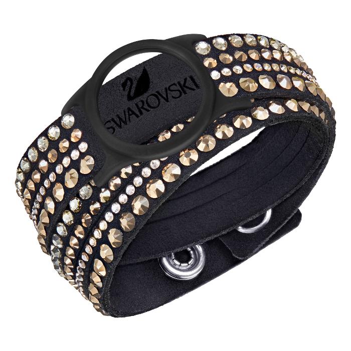 Swarovski Bracelet pour Bijou bracelet d'activité Slake Activity Crystal Noir et Or