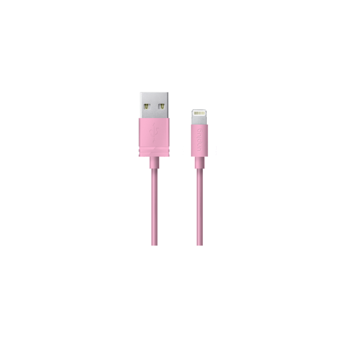 Unplug Câble de charge et synchronisation lightning MFI 0.2M Rose