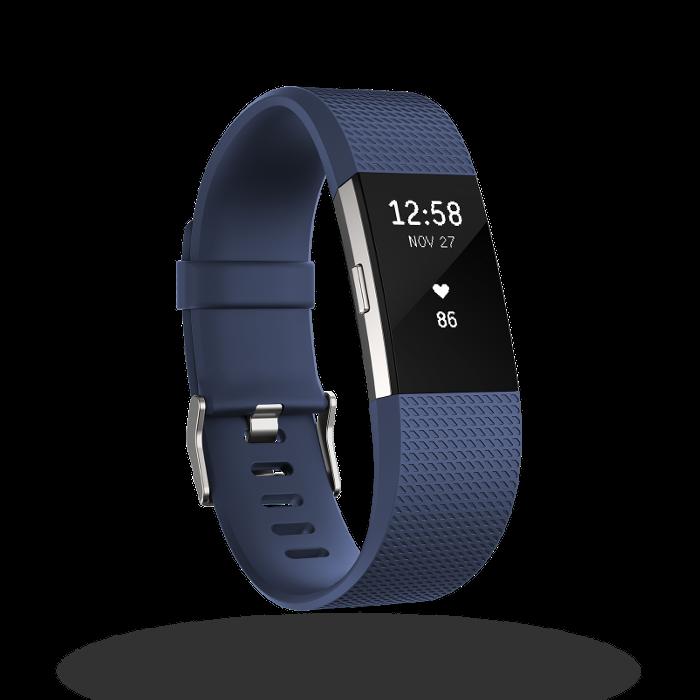 Fitbit Charge 2 bracelet pour l'activité et le sport Bleu Taille S