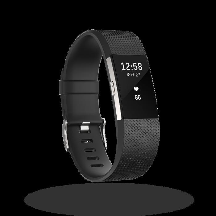 Fitbit Charge 2 bracelet pour l'activité et le sport Noir Taille L