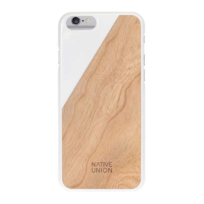 Native Union Coque Clic Wooden pour Iphone 6/6S Blanc