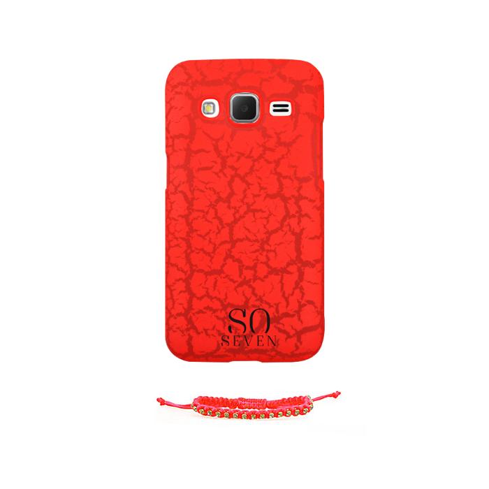 So Seven Coque fluo pour Galaxy Core Prime + bracelet Orange