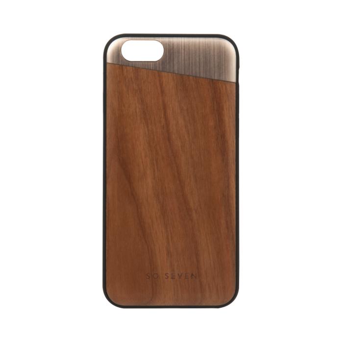 So Seven Coque métal + bois pour Iphone 6/6S Or