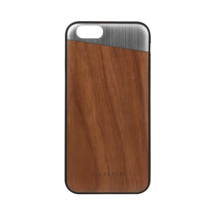 So Seven Coque métal + bois pour Iphone 6/6S Gris