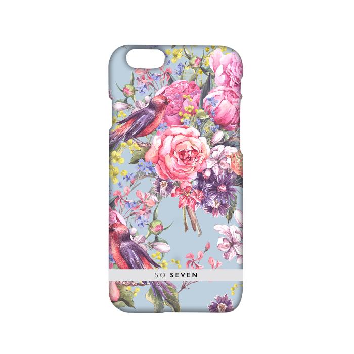 So Seven Coque romantic oiseaux pour Iphone 6/6S