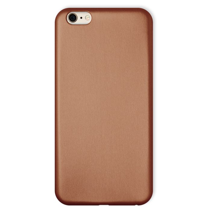 My Way Coque Ultra slim simili cuir pour iPhone 6 Or
