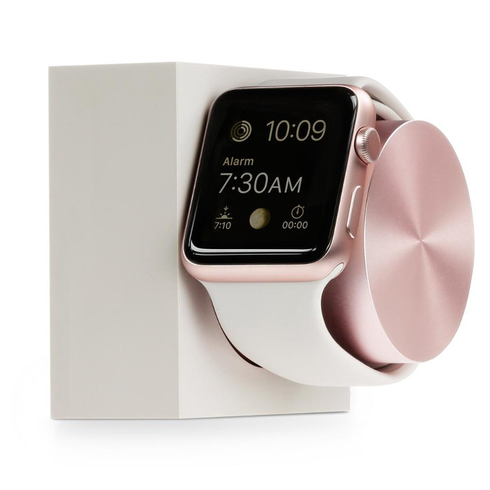 Native Union Station de charge en silicone pour Apple Watch Rose Or