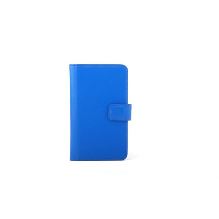Slide cover Folio universel porte carte Bleu L