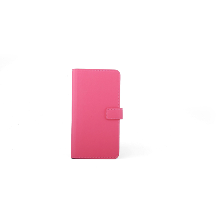 Slide cover Folio universel porte carte Rose L