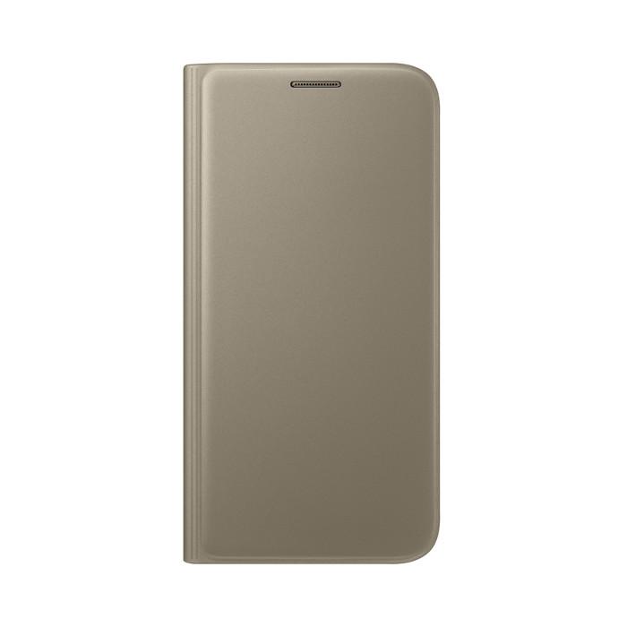 Samsung Etui flip wallet pour Galaxy S7 Or