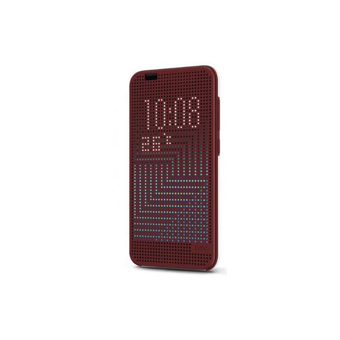 HTC Etui folio avec Dot View pour One A9 Rubis