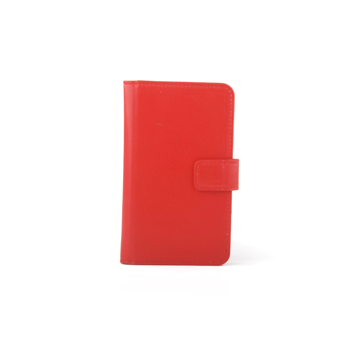 Slide cover Folio universel porte carte Rouge S