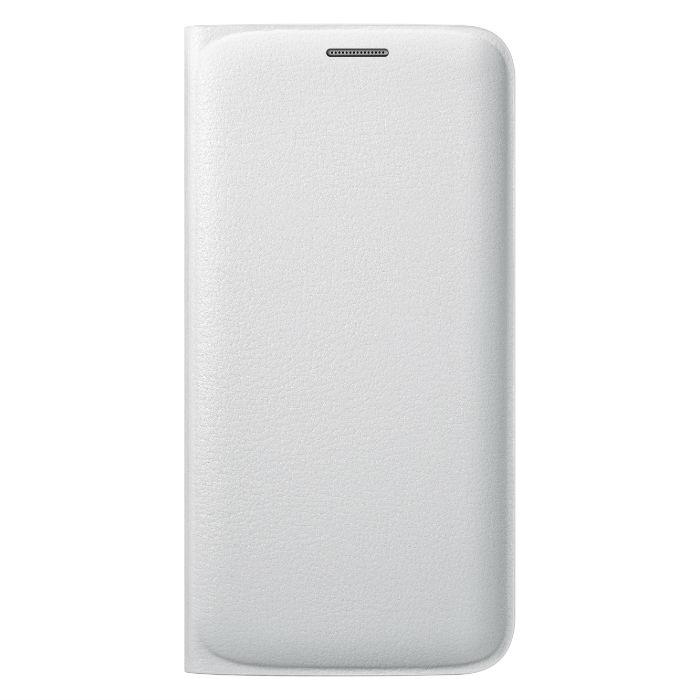 Samsung Etui folio wallet pour Galaxy S6 Edge Blanc